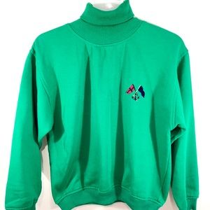 GAP Fleece Women's Green Turtleneck Sweater Size S